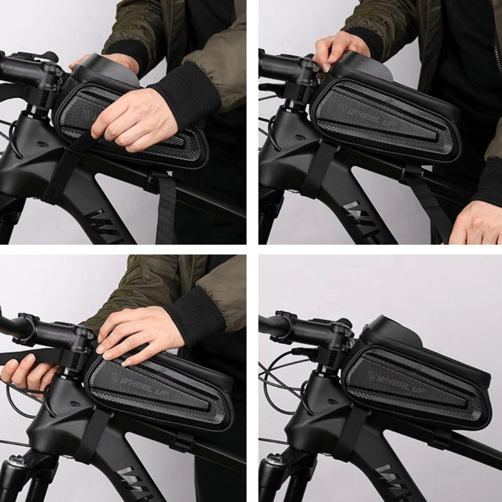 montaža kolesarske torbe